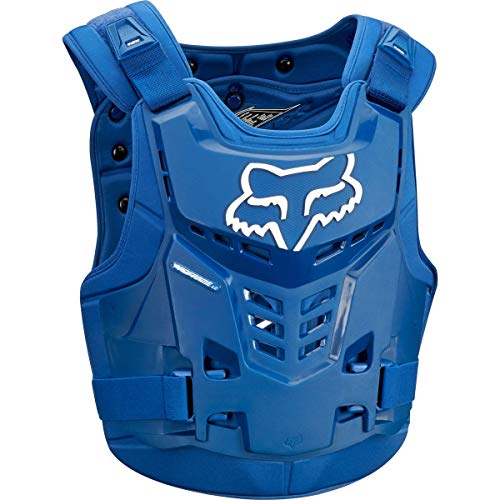 Fox Racing Proframe LC Adult Roost Deflector MotoX Motorcycle Body Armor - Blue / Small/Medium