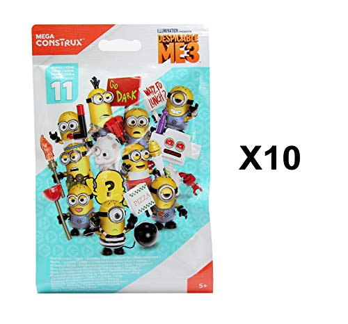 Despicable Me 3 Mega Construx Minions Serie 11 Minifigur Blind Tasche Party Geschenke - Packung 10