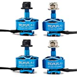 TCMMRC Brushless Motor 1507 2400KV 3-6S for FPV Drone Racing Quadcopter (1507 Blue 4pcs)