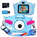 Langwolf Kids Digital Camera for Girls and Boys, Kids Children Selfie Photo Video Camera Camcorder with 32GB SD Card, Gifts for Girls and Boys Age 3 4 5 6 7 8 9 10 11 12 13 Years Old