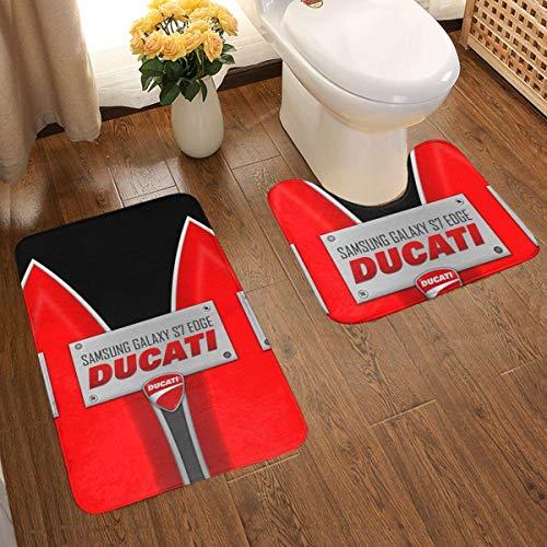gshihuainingxianruanchaos Ducati S7 Edge Badteppichmatten-Set rutschfest, 2-teilig, U-Form + Badteppich Antirutsch-Pads Badteppich Bad-Antirutsch-Pad