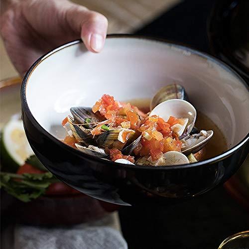 LILICEN Stile Giapponese Ciotola in Ceramica/zuppiera/insalatiera Frutta/Ciotola da Dessert/stoviglie casa di personalità/Shallow Ciotola 800ml