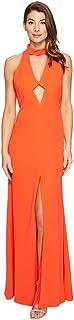 Jill Jill Stuart Women's High Neck Cut Out Gown