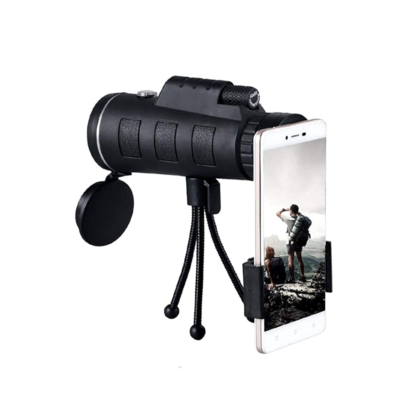 LH HD Prism Monocular, 40X60 25Mm Large Caliber Eyepiece BK4 Prism Fully Coated Lens, for Concert Theater Opera, Tripod Included