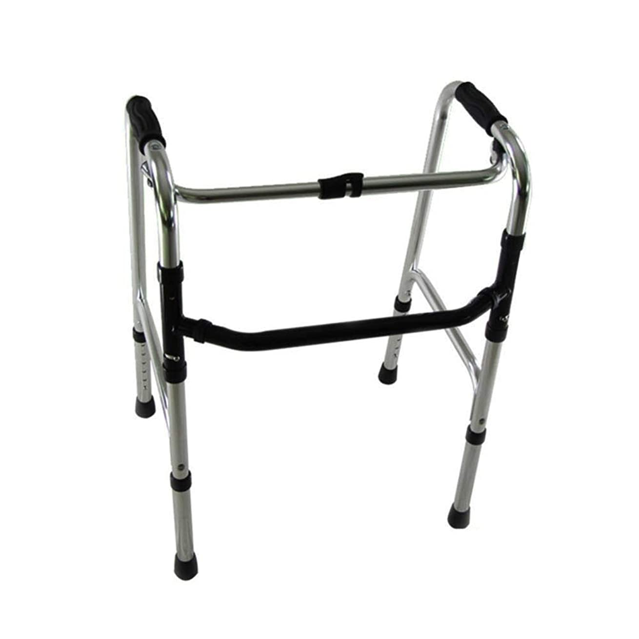 ズームインする持参漁師高齢者の障害者支援のために調整可能な軽量歩行フレーム折りたたみアルミニウムの高さ