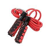 NAIVEDREAM - Cuerda de saltar ajustable para adultos/niños acondicionamiento y pérdida de grasa, cuerda de saltar de velocidad ponderada para crossfit, boxeo, artes marciales mixtas