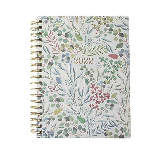 Fringe Studio Agenda espiral 2022, agosto de 2021 - dezembro de 2022, 17 meses, capa de papel, eucalipto azul (844142)