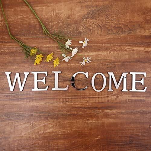 PMSMT Acrílico Letras inglesas Etiqueta de la Pared 3D DIY Nombre Personalizado Autoadhesivo Espejo Pegatinas para Boda cumpleaños decoración del hogar