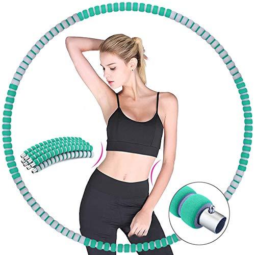 Hula Hoop Reifen, MCSWSEA Fitness Reifen Erwachsene Hoop Gewichtsverlust Fitnesskreis Abnehmbare Stabiler Edelstahlkern, Einstellbares Fitness Hoola Hoop Reifen 1.2kg für Gewichtsreduktion