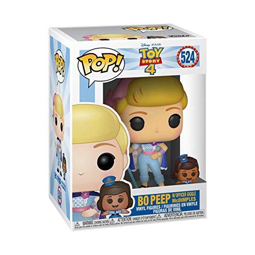 Funko- Pop Vinyl: Disney: Toy Story 4: Bo Peep w/Officer McDimples Figura da Collezione, Multicolore, 37391