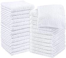 Utopia Towels - 24 Toallas para la Cara de algodón, Paños de algodón (30 x 30 cm, Blanco)