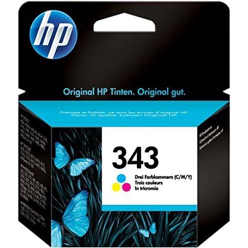 HP 343 C8766EE Cartuccia Originale per Stampanti a Getto di Inchiostro Officejet 6210, 6310, 6313, 7110, 7310xi, 7410xi, Photosmart 2610, 2710, 2713, 425 e PSC Serie 2355, Tricromia