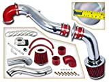 Rtunes Racing Cold Air Intake Kit + Filter Combo RED Compatible For 98-03 Ford Escort ZX2 2.0L L4