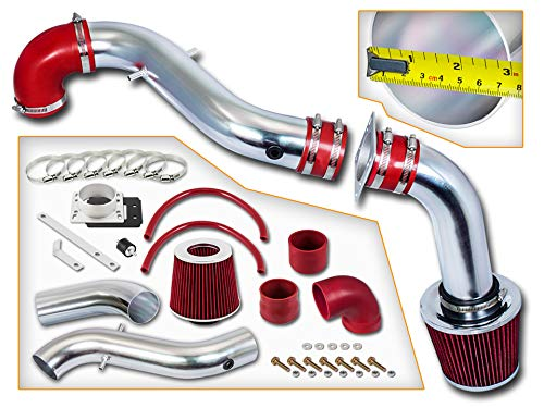 Rtunes Racing Cold Air Intake Kit + Filter Combo RED Compatible For 98-03 Ford...