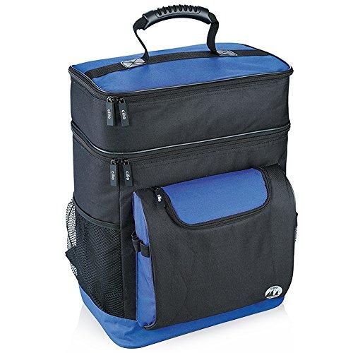 Cilio Kühltaschen-Rucksack Riviera, Polyester, schwarz/blau, 25 Liter