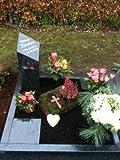 Urnengrabstein mit Grabeinfassung Grabstein Granit Grabumrandung