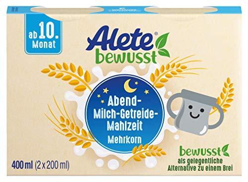 Alete bewusst Abend-Milch-Getreide-Mahlzeit Mehrkorn, ab dem 10. Monat, 400 ml
