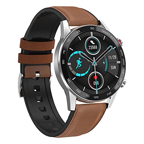 WEINANA Reloj Inteligente De Toque Completo para Hombres, Reloj Inteligente con Llamada Bluetooth, Reproducción De Música, Pulsera De Fitness,Reloj Inteligente IP67,Reloj Digital Deportivo(Color:B)