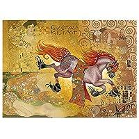 大人のための5Dダイヤモンド絵画キットフルドリル刺繡ラインストーン絵画家の壁の装飾(12x16inch / 30x40cm)馬と女性のダイヤモンドの描画