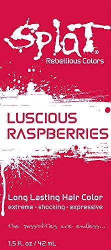 Splat | Luscious Raspberries | 1.5 oz. Foil Pack | 30 Wash | Temporary Red Hair Dye