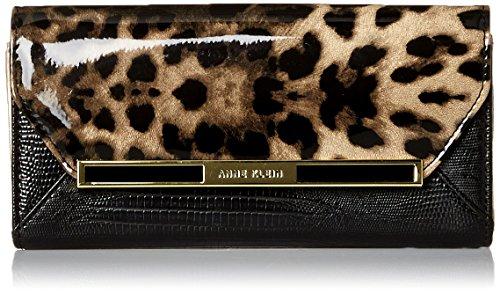 Anne Klein Run Wild Continental Wallet, Black/White, One Size