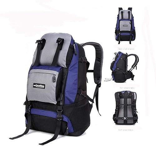 ACZZ Sac à dos de sport de voyage en plein air, 45L grande capacité, sac de montagne imperméable, hauteur 53 cm; Longueur 37Cm Fois; épaisseur 15cm, 003,4