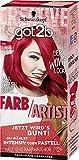 SCHWARZKOPF GOT2B Farb/Artist, Haarfarbe 092 Lollipop Rot, 3er Pack (3 x 80 ml)