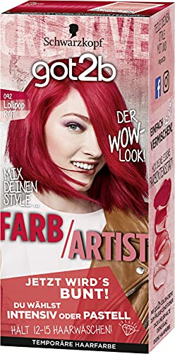 SCHWARZKOPF GOT2B Farb/Artist 092 Lollipop Rot, 3er Pack (3 x 80 ml)