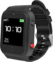 ZGPAX S88 GPS Tracker Smart Watch Phone Satellite Locate Remote Monitor SOS for Elder Dad Mom Gift (BLACK)