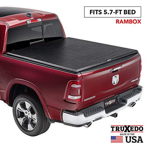 "TruXedo TruXport Soft Roll Up Truck Bed Tonneau Cover | 284901 | fits 2019 - 2020 New Body Style Ram 1500 w/RamBox with or without Multifunction tailgate 5'7"" bed"