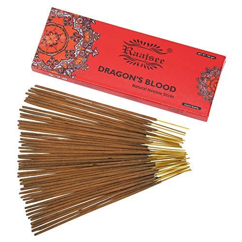Raajsee - Bastoncini di incenso al sangue di drago, confezione da 100 g, 100% puro organico, arrotolati a mano, privi di sostanze chimiche, per chiesa, aromaterapia, rilassamento, meditazione