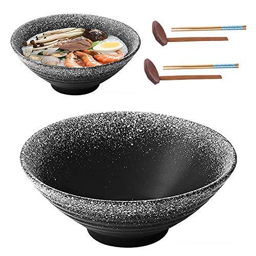2X Tazón De Ramen Japonés De Cerámica, 9Inch/1350ml, Tazón Sopa Grande con...