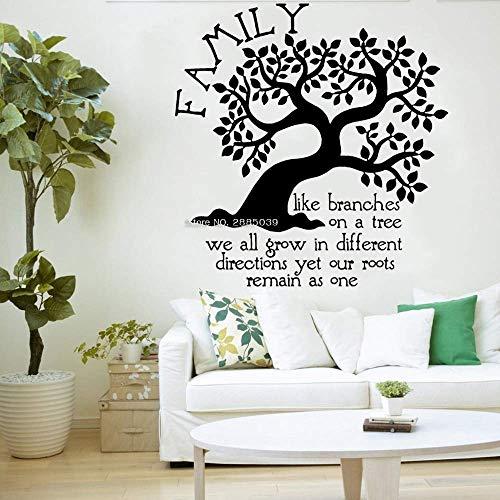 Etiqueta De La Pared Del Árbol Genealógico Con Calcomanías Decorativas En La Sala De Estar Como Ramas En El Árbol.Root Habitación Para Niños Big Tree Mural Apliques L 58X56Cm