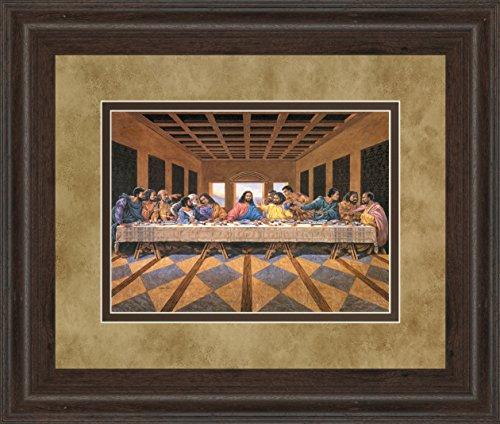 Classy Art Last Supper (African American) Framed Print Wall Art, Brown