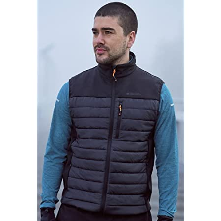 Mountain Warehouse Turbine Mens Padded Gilet - Lightweight Body Warmer, Padded Insulation Vest, Zipped Pockets Sweater - Ideal for Autumn Camping, Travelling, Hiking
