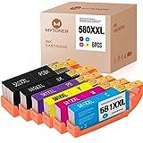 6 MYTONER Compatibile per Canon 580 581 XXL PGI-580 XXL CLI-581 XXL Cartucce per stampanti per Canon PIXMA TR8550 TS6150 TS8350 TS6250 TS6350 Drucker
