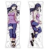 zhaoyuan Naruto Hinata Hyuga Anime Otaku Body Pillow Case Cover Japanese Textile & Smooth Knit 160 x 50 cm (62.9in x 19.6in) Cojín de abrazar funda de almohada