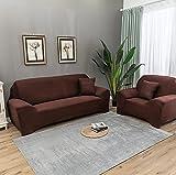 Funda sofá Duplex,Funda de Sofá Elástica Punto,Funda de sofá elástica de Color sólido, Funda Antideslizante para sofá con Todo Incluido-G_90-140CM