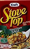 Kraft Stove Top Traditional Sage Stuffing Mix (Pack of 3) by Kraft