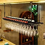 Kreative Einfachheit Bartheke Bar Weinregal Restaurant Haushalt Wein Reverse Gläser Reverse Locker Weinregal Weinregale, HJJ, 80 * 30 cm