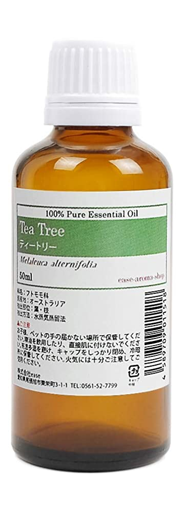 鎮静剤表面すごいease アロマオイル ティートリー 50ml AEAJ認定精油  エッセンシャルオイル
