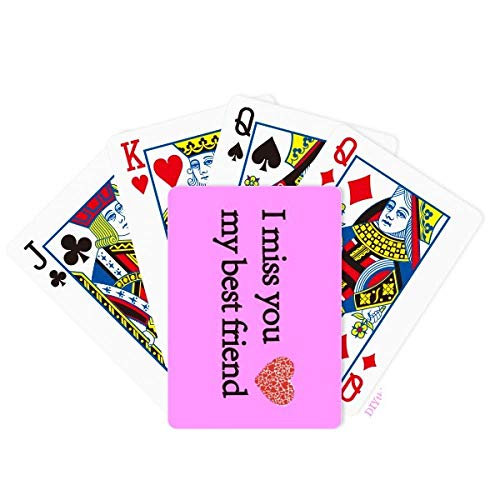 DIYthinker Best Friend Fellowship Companionship Poker Playing Card Tabletop Board Game