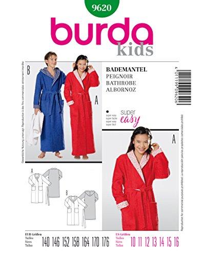 Burda Schnittmuster 9620 Bademantel Gr. 140-176