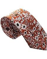 Floral Paisely Ties for Men - Cool Mens Neckties - Floral - Orange