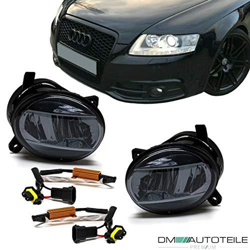 DM Autoteile Set Klarglas LED Nebelscheinwerfer Smoke passt für A4 B8 07-11 A6 4F 04-08 Q5 8R