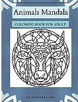 Animals Mandala: Coloring Book for Adult