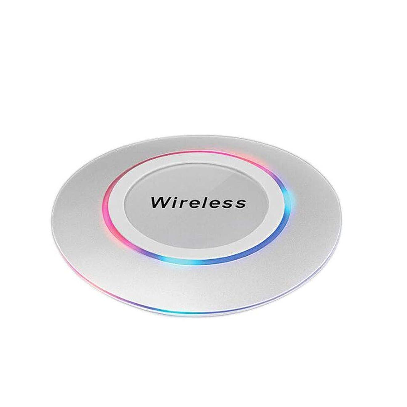 うそつき租界外交問題Ren He ワイヤレス充電器 ワイヤレス充電レシーバー 丸型超薄い 超軽量で持ち運びに便利 USBケーブル付き iphone 8/iphone 8 Plus/iphone Xなど 対応