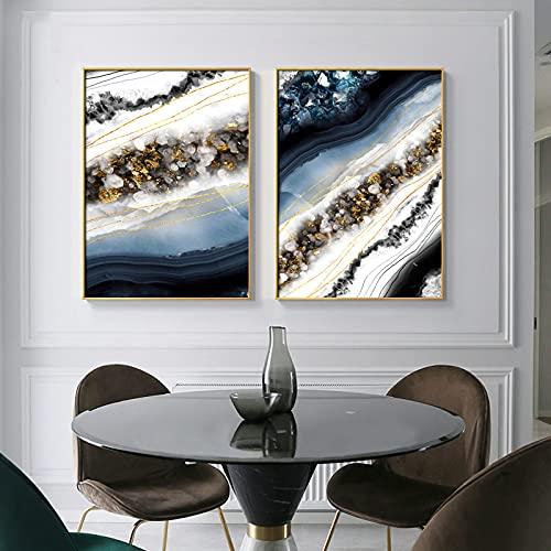 Decoración moderna Arte de la pared Pintura en lienzo Líneas abstractas de...