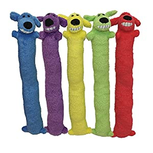 Multipet's Original Loofa Jumbo Dog Toy in Assorted Colors, 24-Inch