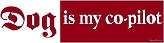 "EvolveFISH Dog is My Co-Pilot Bumper Sticker 11"" x 3"""